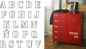 Taquillas metálicas lockers decoradas con stencil