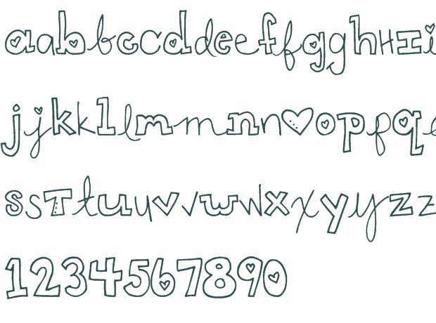 Cute Handwriting Styles | ART inspiration | Pinterest