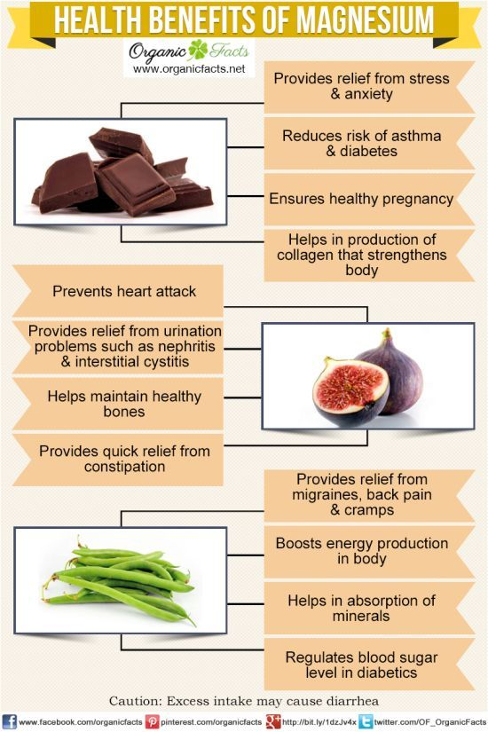 Health benefits of magnesium include maintaining bodily nerves, muscles and bones. It also helps in protein synthesis and cellular metabolism. Magnesium is vital for sustaining the normal heart beat and is used by doctors to treat irregularity heart rhythm. Other health benefits of magnesium are osteoporosis, eclamptic seizures, sugar level, asthma, diabetes, constipation, back pain and psychiatric disorders.
