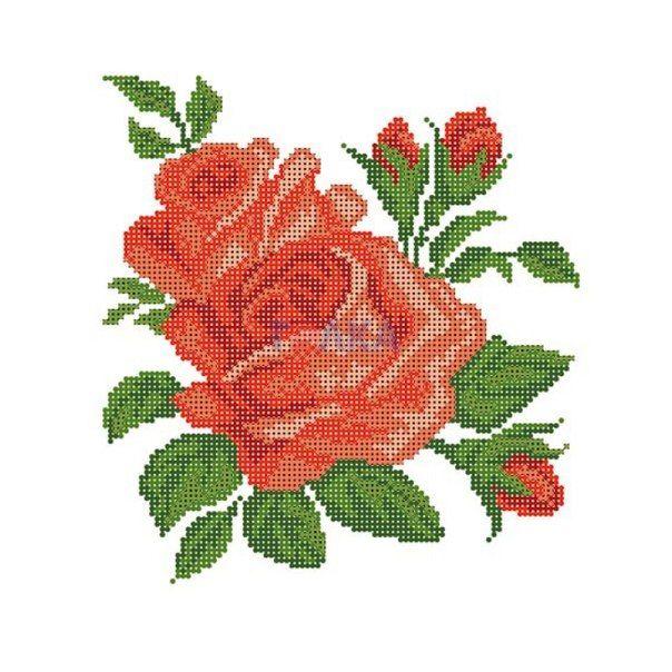 Вышивка роз бисером