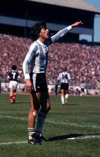 Argentina legend Daniel Passarella - pictured v Scotland at Hampden Park, 2 June 1979