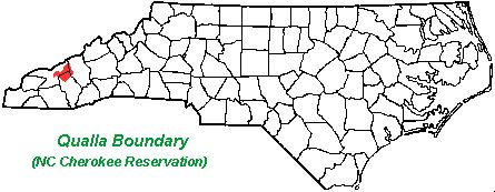 Info on Eastern Cherokee Nation & map of Qualla Boundary (NC Cherokee Reservation) (5.31k)