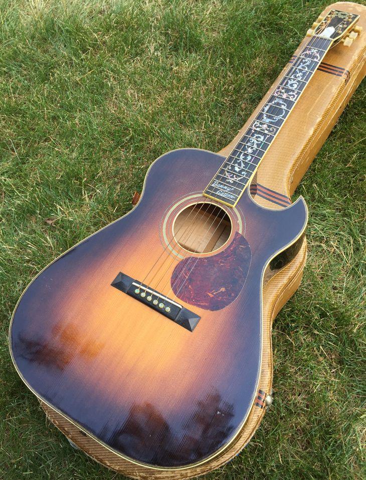 Danny Gatton S Personal Randy Wood Custom Guitar Custom Acoustic Guitar Hand Made By Master Luth Custom Acoustic Guitars Electric Guitar Design Custom Guitar