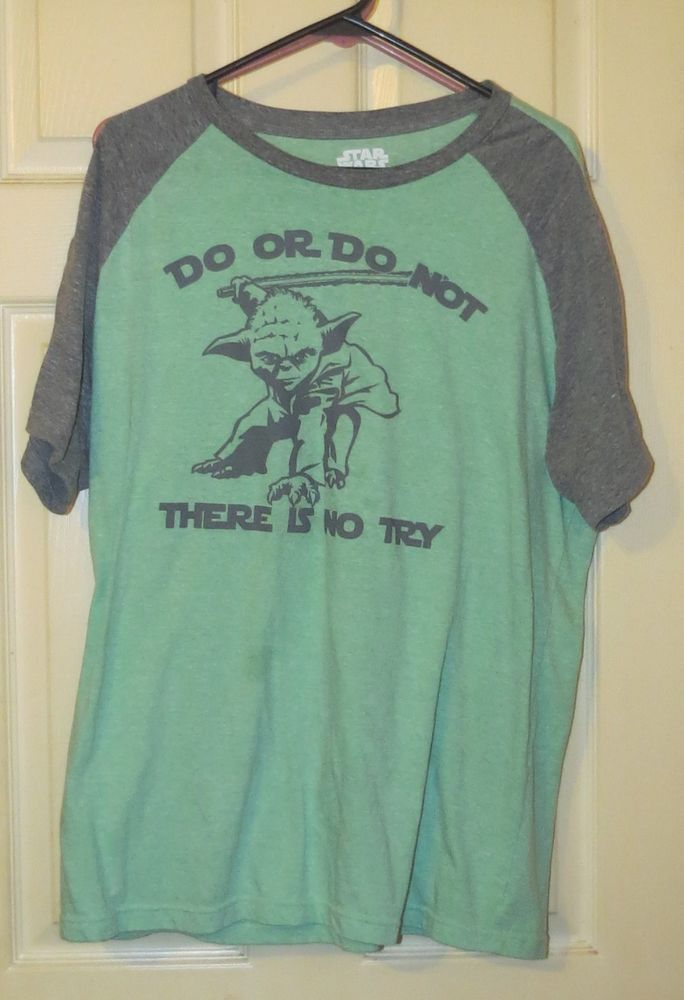 Unisex, 2XL, Green Gray STAR WARS Yoda  t-shirt Shirt Graphic Do Or Do Not #StarWars #GraphicTee