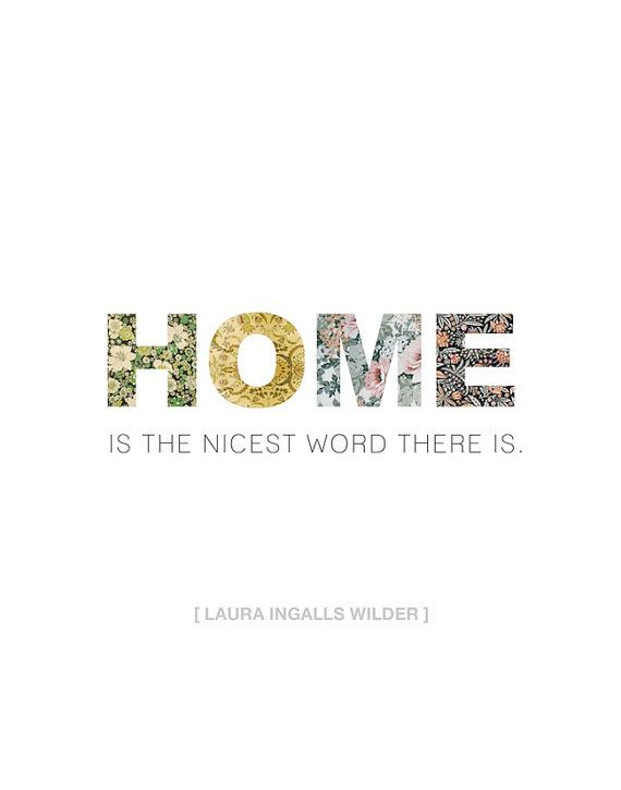 11x14 Vintage Wallpaper Home Is The Nicest Word There Is Print
