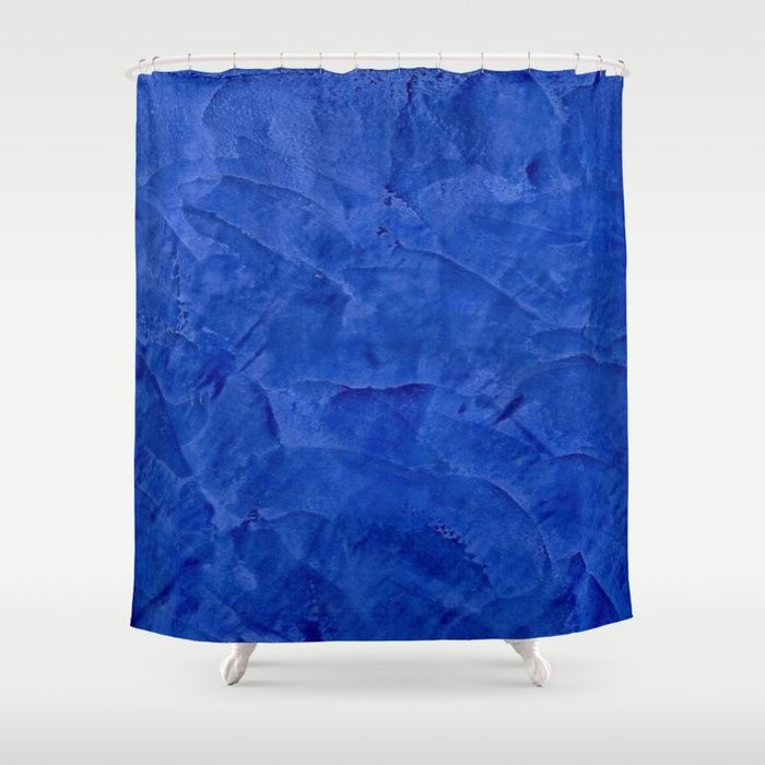 Customize your bathroom decor with unique shower curtains designed by artists around the world. Made from 100% polyester our designer shower curtains are printed in the USA and feature a 12 button-hole top for simple hanging. The easy care material allows for machine wash and dry maintenance. Curtain rod, shower curtain liner and hooks not included.  Pretty Blue Cases - Ombre - Stucco - Pillow - iPhone - Shower Curtains by Corbin Henry for Society6 home decor. Unique shower curtain.