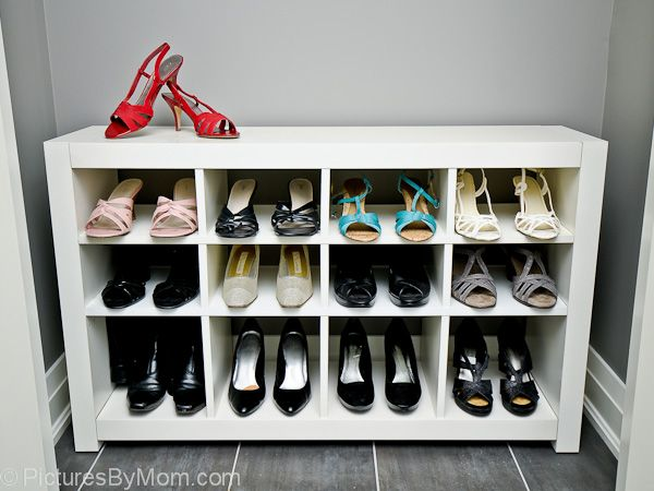 The Ikea Expedit cubbies are a little too deep and tall for shoes. JP resizes a 4×2 Expedit into a shoe rack optimized for shoes. See more of the Expedit shoe rack. ~ JP Danko, Toronto, Ontario More hacks on IKEAHackers.net DIY Fauxdenza from Ikea Kitchen [&hellip