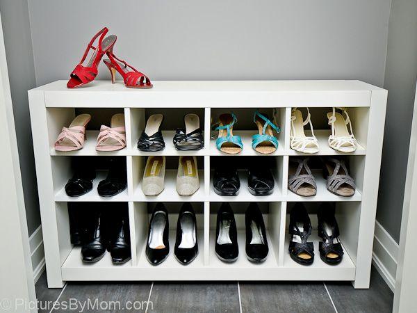 IKEA Hackers: How To Build A Custom Shoe Rack From An Ikea Expedit Shelving Unit