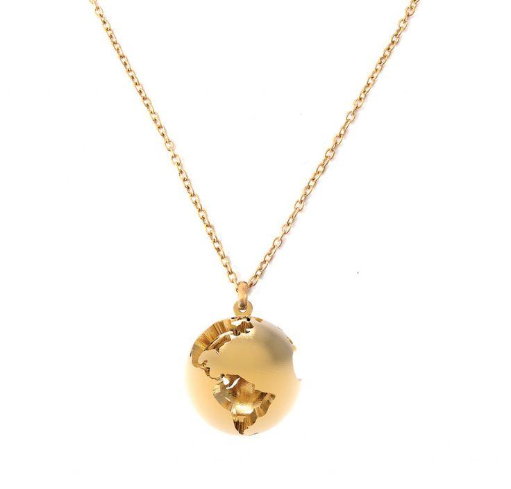 World Globe Pendant - Gold