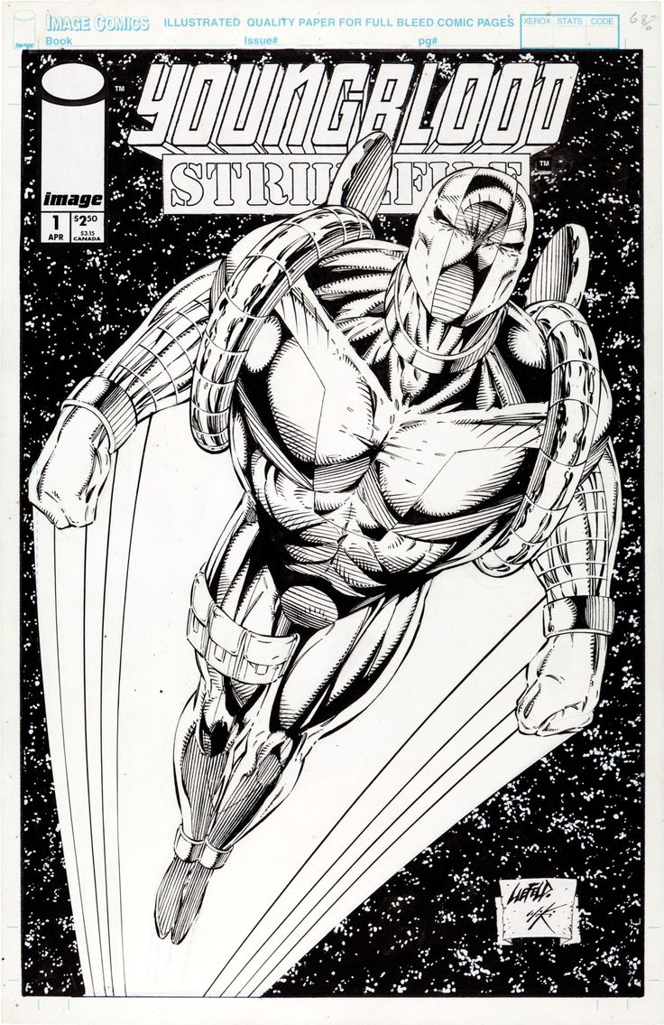 the cover to Youngblood: Strikefile #1 by Rob Liefeld and Danny Miki
