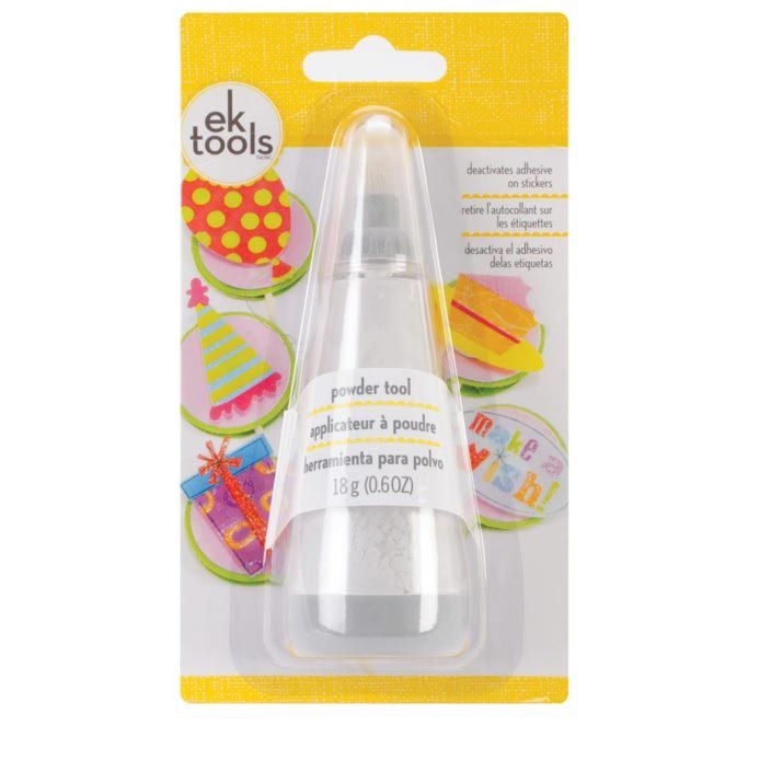 """EK Success POWDER TOOL Applicator $6   great to use before heat embossing! It ensures the embossing powder sticks only to your ink so you get clear, crisp images every time! Approximately 1.5"""" x 5"""""""