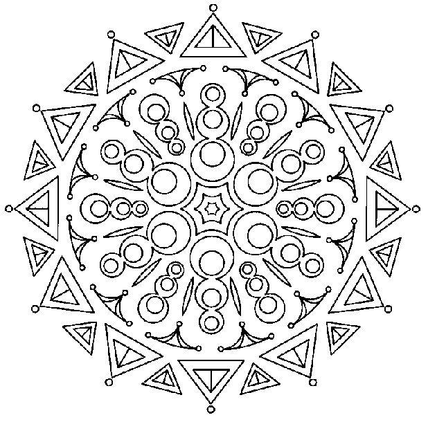Mejores 9 imágenes de Adult coloring pages MANDALA en Pinterest ...
