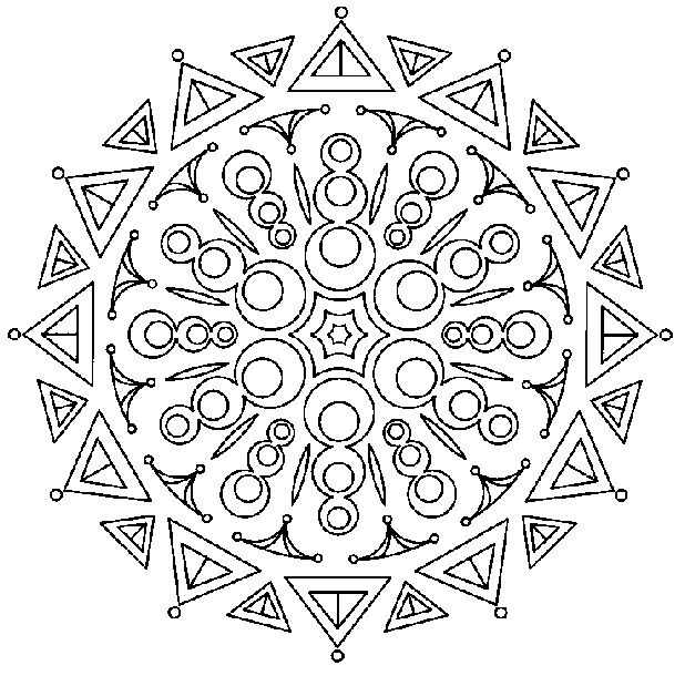 mandala_207 Free coloring pages for adult and teens