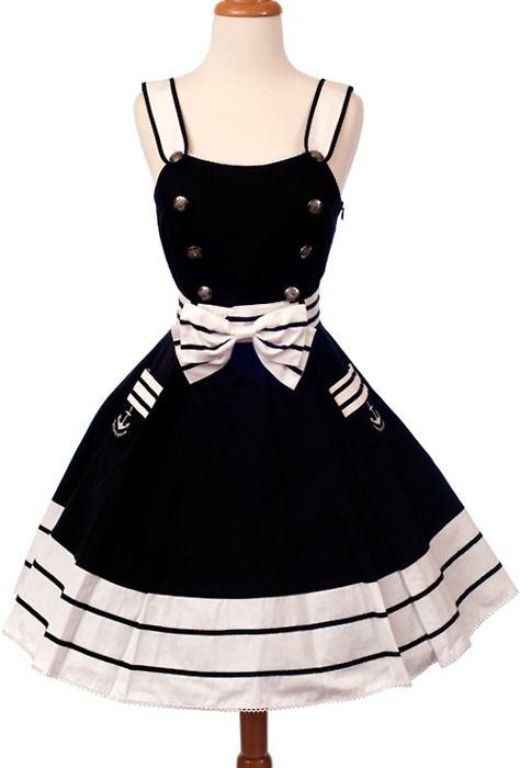 will definitely be making this nautical dress...