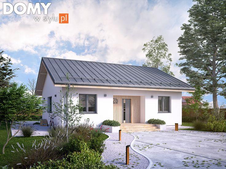 Projekt domu parterowego - Fistaszek (81 m2). Pełna prezentacja projektu dostępna jest na stronie: https://www.domywstylu.pl/projekt-domu-fistaszek.php.