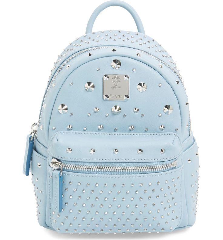 Main Image - MCM 'X-Mini Stark - Bebe Boo' Studded Leather Backpack