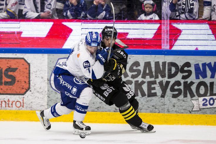 Leksands Johan Olofsson and AIKs Jonathan Andersson, HockeyAllsvenskan 2015-16 FIGJAM