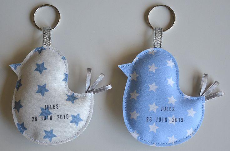 faire-part de naissance original portes-clés petits oiseaux personnalisés : Faire-part par bykiki