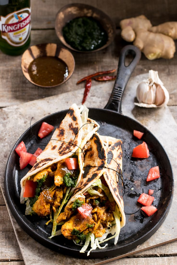 You can't go wrong with an Achari Chicken Frankie, or Kathi Roll. Chicken breast marinated in Indian pickling spices, wrapped in a delicious roti. | whitbitskitchen.com