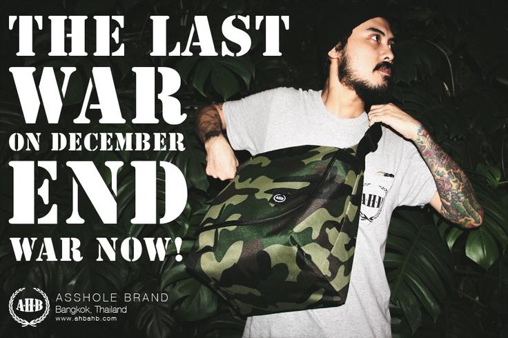 Asshole Brand  Bangkok, Thailand  www.ahbahb.com  www.facebook.com/assholebrand    #tattoo #messenger bag #street #streetwear #fashion #military #bag