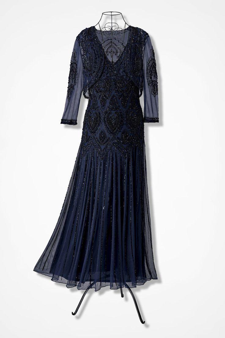 Nocturne Beaded Bolero Dress by Pisarro Nights - Coldwater Creek