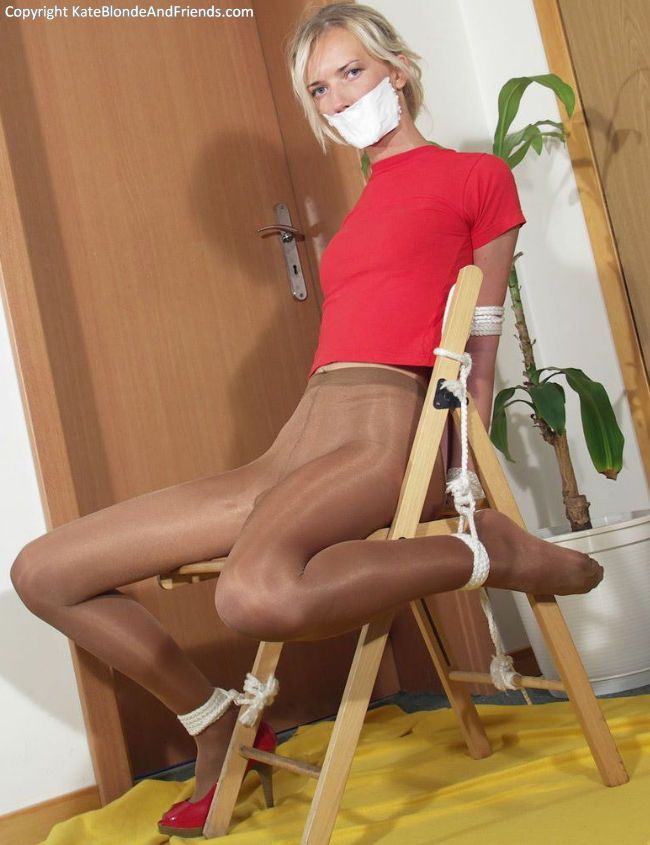 Gagged In Pantyhose 35