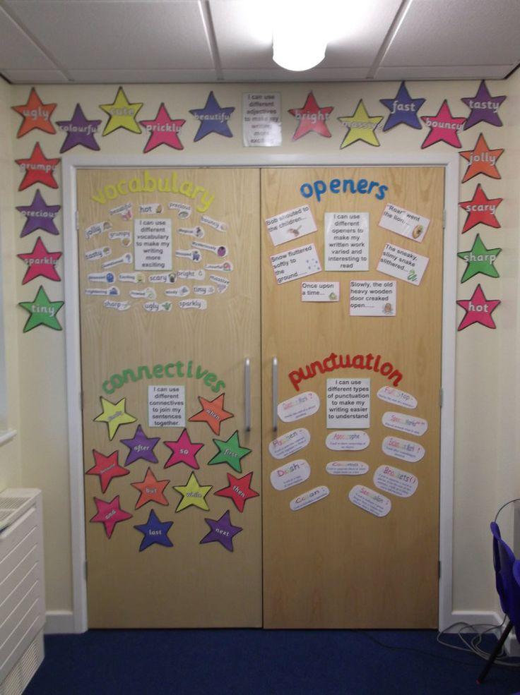Best 25 class displays ideas on pinterest classroom for Idea door primary