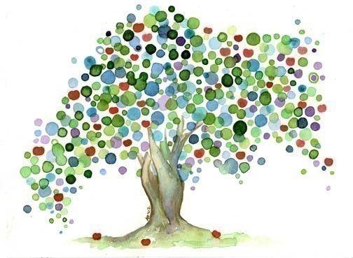 Watercolour Archival Apple Tree Art Print - Nursery Children Teacher Office Kitchen Wall Art on Etsy, $15.50