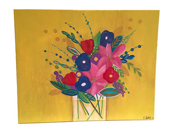 """Abstract Flower Number Four 30"""" x 24"""" 3/4"""" by Diane Tkatch Found on http://laserspiderart.com"""