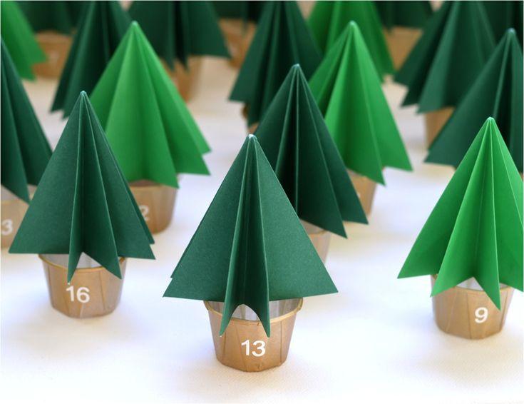 """DIY Christmas tree advent calendar"""