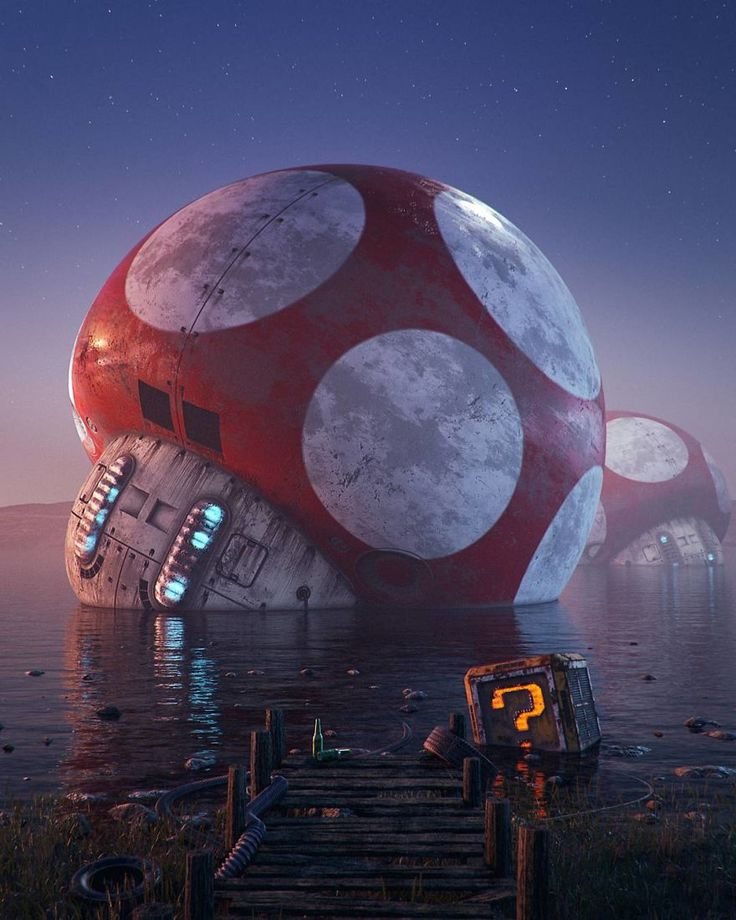 Post Apocalyptic Mario Art (by Filip Hodas) http://bit.ly/2mvUxoF #gaming