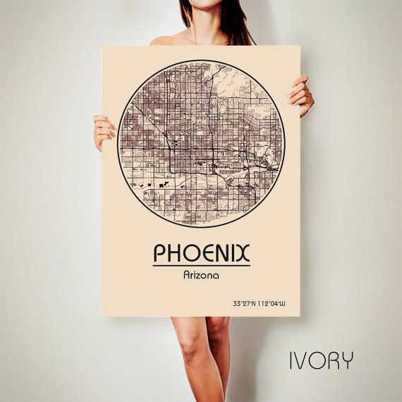 PHOENIX Arizona CANVAS Map Phoenix Arizona Poster City Map Phoenix Arizona Art Print Phoenix Arizona poster Phoenix Arizona map art Poster Phoenix Arizona map  Get a discount on this map! To see all offers, click here: https://www.etsy.com/shop/ArchTravel?ref=hdr_shop_menu&section_id=19169258  ♛COLORS, QUALITY AND DETAILS:  ★Impressive High Detailed Map  ★Stylish BAUHAUS Design!  ★The DEEP RICH COLORS!  ★Best quality. Fabulous look!  ♛MATERIAL:  ★Printing on ...