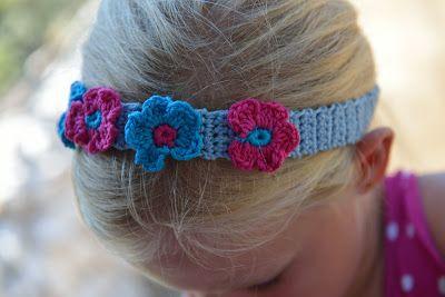 Lavendel en Papaver: Gehaakte haarband