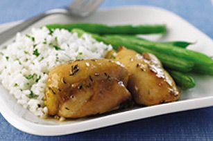 Herb-Glazed Chicken Thighs recipe, enhanced with yummy maple syrup.