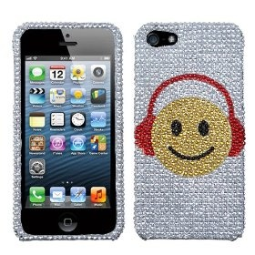 MYBAT Music Smiles Diamante Phone Protector Cover for APPLE iPhone 5 $6.42 while supplies last!