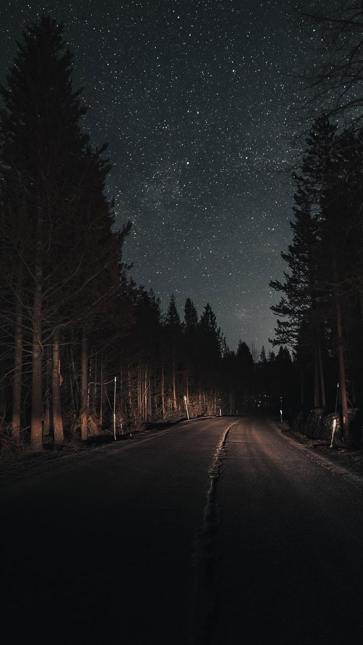 Road in the night – #iphone #night #road