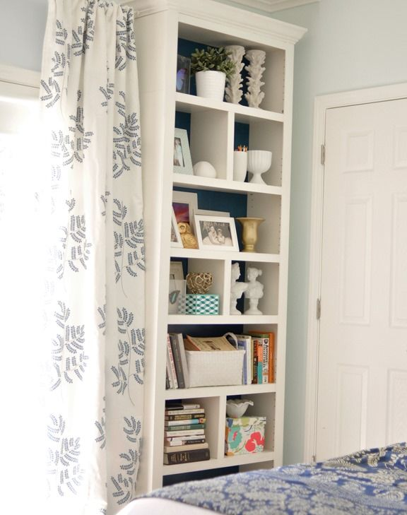 25 great ideas about bookcase redo on pinterest for Ikea blue billy bookcase