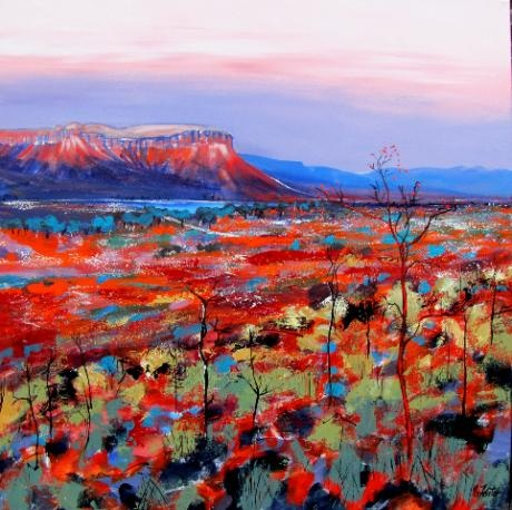 Art by Carole Foster 'Cockburn Ranges'. Love the style & colour- reminiscent of Peter Coad.