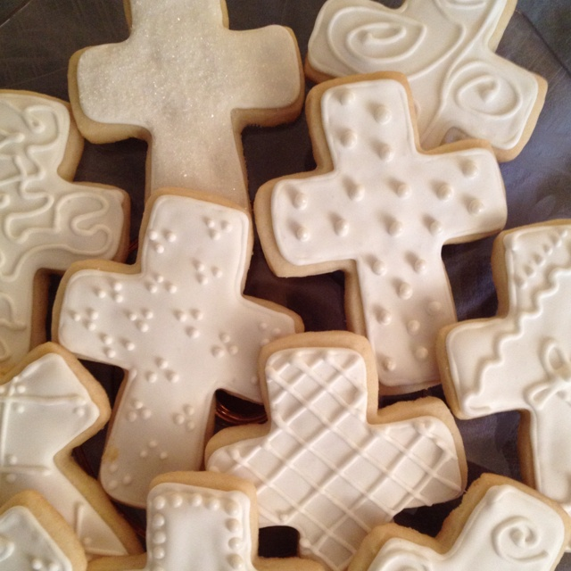 Cross cookies for Confirmation, Baptism or 1st Communion celebrations.