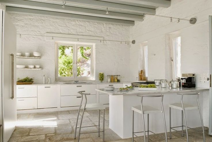 decoracion de interiores rusticos blanco:Pinterest White Kitchen
