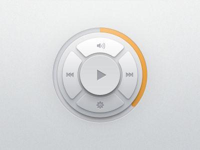 player 20 Brilliant Examples of Skeuomorphic UI Design