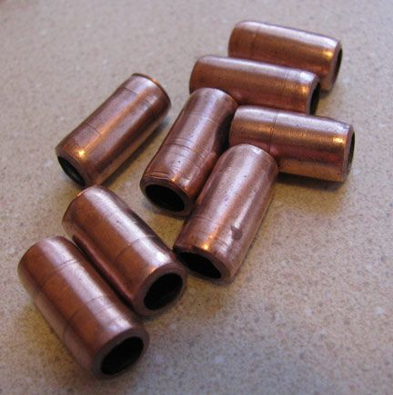 Tutorial : Making copper beads from copper tubing...I have a pipe cutter and some copper tubing..yay!