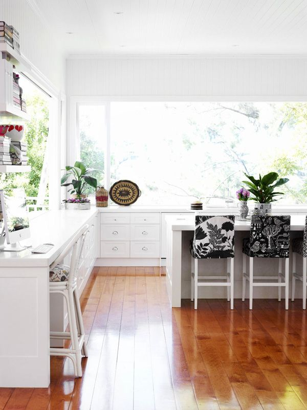 white kitchen – Photo - Toby Scott, production – Lucy Feagins / The Design Files.