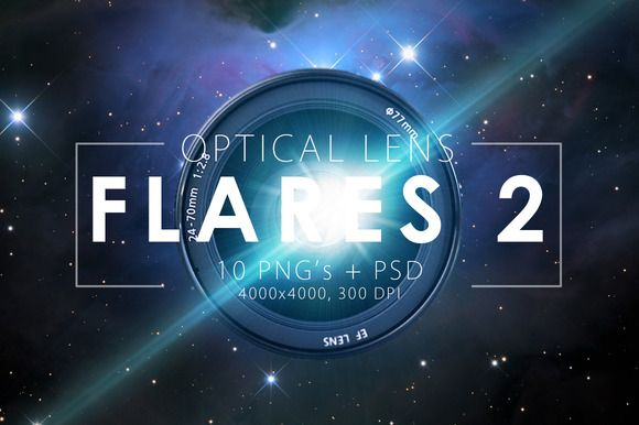 10 Optical Lens Flares Pack 2 by ArtistMef on @creativemarket