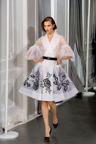 Christian Dior Spring 2012 Couture - chic...feminine...iconic! Reminiscent of classic Dior of the 1950s. To. Die. For. Please, please, please let mainstream fashion head this direction!
