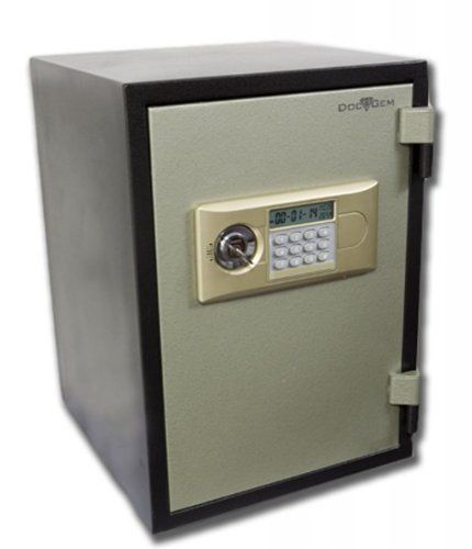 "DocuGem 500F Burglary and Fire Resistant Safe (Dark Green Body Grey/Silver Door) (20.5""H x 14""W x 9.62""D) by Global. $420.00. This safe has sufficiently and effectively passed the fire endurance test, fire explosion test, and. Size: 20.5""H x 14""W x 9.62""D. It has a small plastic pull out tray located inside of the safe, great for flash drives, hard. This item ships common carrier.. Color: Dark Green Body Grey/Silver Door. The DocuGem 500F Burglary and Fire Resistant Safe is a ..."