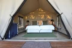 Sabie River Bush Lodge Tent interior.