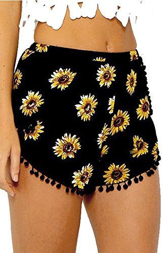 New Trending Pants: Casual Pants, CoKate Sunflower Tassel Edge Floral Print Beach Shorts (US 6/ Large). Casual Pants, CoKate Sunflower Tassel Edge Floral Print Beach Shorts (US 6/ Large)  Special Offer: $2.99  300 Reviews 1pc short pant√ Material: Polyester√ Size reference.√ Elastic waistband.√ Casual and leisure style,perfect for hot summer,seaside,beach,party.√ CoKate is a registered...