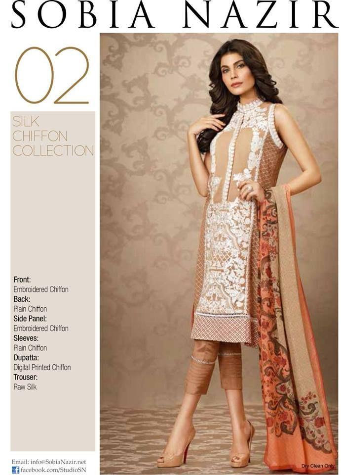 Sobia Nazir Silk Chiffon Eid-UL-Azha Collection 2015