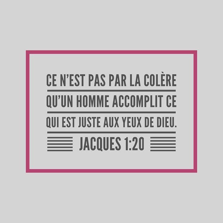 Quels #conseils pratiques Jacques donne-t-il dans les versets 19 à 21? #versetdujour #colère #laBible